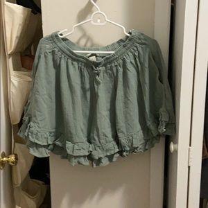 H & M green skirt size 10